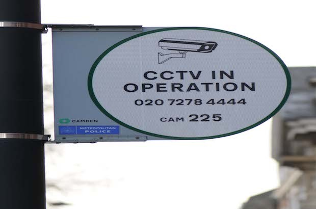 Photo of a sign that says 'CCTV in operation'