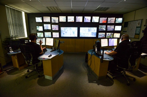 CCTV Control Room with a number of monitors