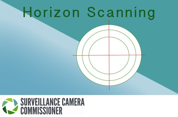 Graphic with the words 'horizon scanning,