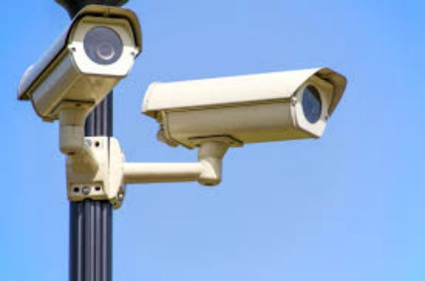 Image of two CCTV cameras